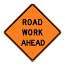 Picture of Road Work Ahead Sign (W-65*22)