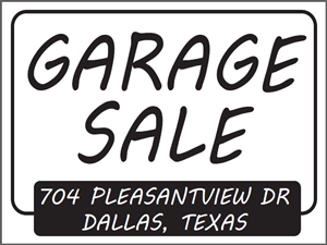 Picture of Garage Sale Yard Sign (GSYS#002)