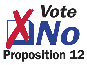 Picture of Vote No Yard Sign (VNYS#002)