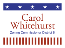 Picture of Zoning Commissioner Yard Sign (ZCYS#002)