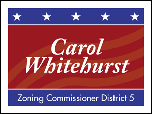 Picture of Zoning Commissioner Yard Sign (ZC2YS#002)