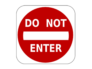 Picture of Do Not Enter Sign