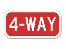 Picture of 4-Way Sign