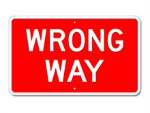 Picture of Wrong Way Sign