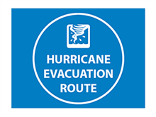 Picture of Hurricane Evacuation Route  Sign (HERS#008)