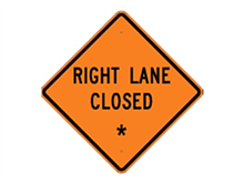 Picture of Right Lane Closed Sign (W20-5R*27)