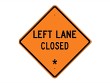 Picture of Left Lane Closed Sign (W20-5L*27)