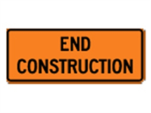 Picture of End Construction Sign (G20-2*33)
