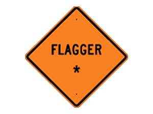 Picture of Flagger Sign (W20-7A*27)