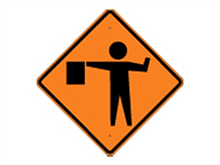 Picture of Image Flagger Sign (W20-7S*22)
