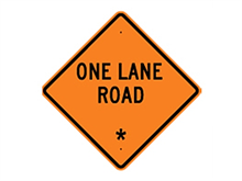 Picture of One Lane Road Sign (W20-4*27)