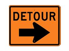 Picture of Detour Right Arrow Sign (M4-9R*21)