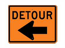 Picture of Detour Left Arrow Sign (M4-9L*21)