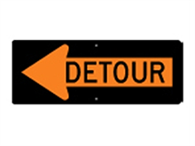 Picture of Detour Left Arrow Sign (M4-10L*29)