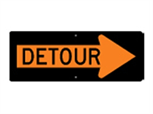 Picture of Detour Right Arrow Sign (M4-10R*29)