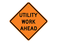 Picture of Utility Work Ahead Sign (W23-1*27)