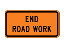Picture of End Road Work Sign (G20-2B*25)