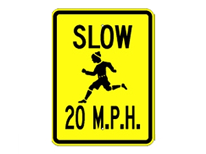 Picture of Slow 20 M.P.H. Sign (G-4*9)