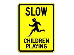 Picture of Slow Children Playing Sign (G-8*9)