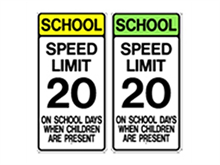 Picture of School Speed Limit Sign (S4-7*19)