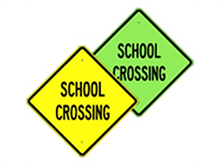 Picture of School Crossing Sign (W-29*16)