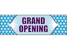 Picture of Grand Opening Banner (GO2B#001)