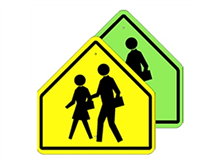 Picture of School Crossing Sign (S1-1*22)