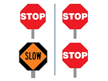 Picture of Stop/Slow Paddles (HS-1/HS-2)