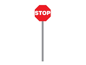 Picture of 6' Stop/Slow Paddles (HS-10/HS-11)