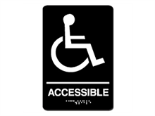 Picture of ADA Braille Handicap Restroom sign