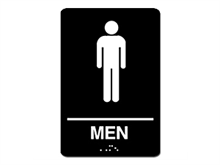 Picture of ADA Braille Men Restroom Sign
