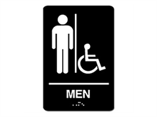 Picture of ADA Braille Men Handicap Sign