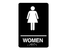 Picture of ADA Braille Women Restroom Sign