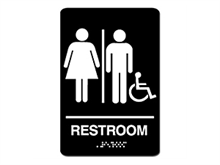 Picture of ADA Braille Women/Men Handicap sign