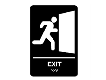 Picture of ADA Braille Exit Sign