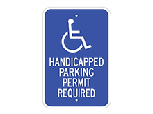 Picture of Handicap Permit Required Parking (G-53RA5)