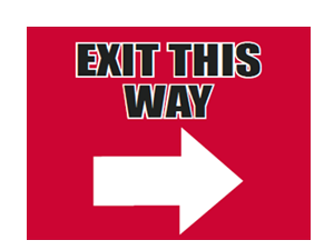 Picture of Exit This Way Right Yard Sign (ETWRYS#002)