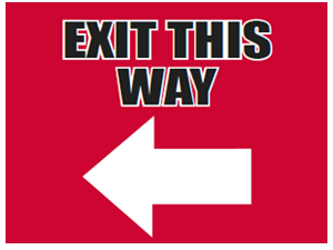 Picture of Exit This Way Left Yard Sign (ETWLYS#002)