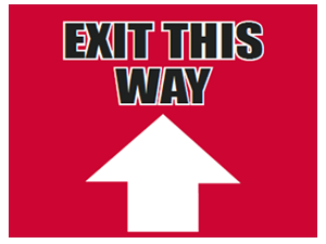 Picture of Exit This Way Up Yard Sign (ETWUYS#002)