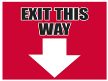 Picture of Exit This Way Down Yard Sign (ETWDYS#002)