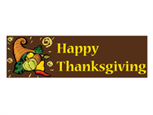 Picture of Happy Thanksgiving Banner (HTB#001)