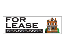 Picture of White Background For Lease Banner (WFLB#001)