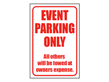 Picture of Event Parking Sign (EPS#008)