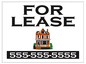 Picture of White Background For Lease Yard Sign (WFLYS#002)