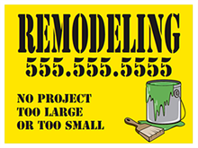 Picture of Remodeling Yard Sign (RMYS#002)