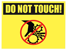 Picture of Do Not Touch Yard Sign (DNTYS#002)