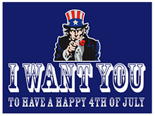 Picture of Happy 4th of July Yard Sign (HFYS#002)