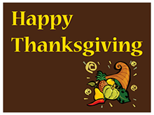Picture of Happy Thanksgiving Yard Sign (HTYS#002)