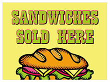 Picture of Sandwiches Served Here Yard Sign (SSHYS#002)