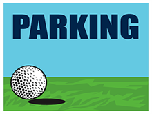 Picture of Golf Tournament Parking Yard Sign (GTPYS#002)